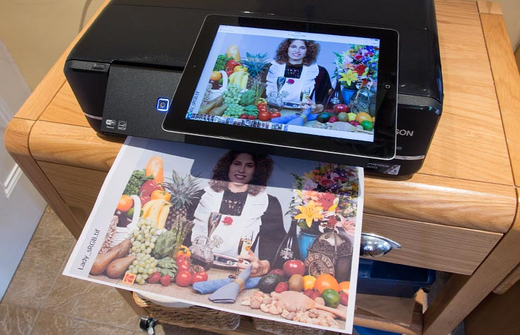printing via an iPad
