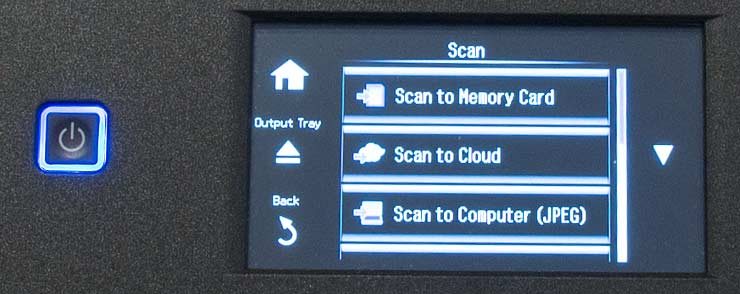 printter scan options