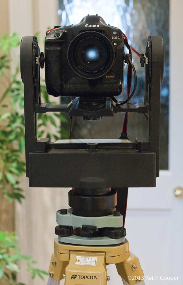 Gigapan, with canon 1Ds DSLR mounted on survey tripod and tribrach