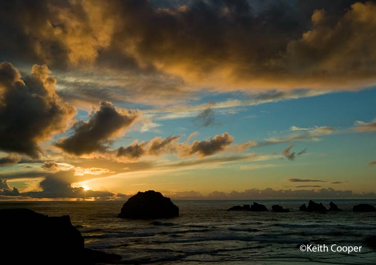 sunset at Face Rock, Bandon