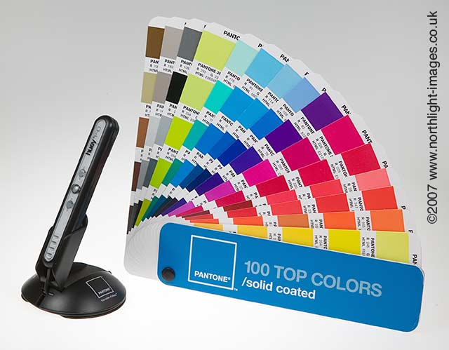 huey pro and pantone colour book