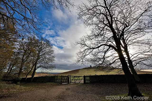 Bradgate Park top entrance, Leicester, December