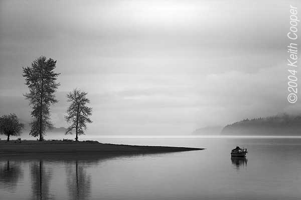 Hood canal bw photography