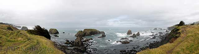 Panoramic view of the north californian coast