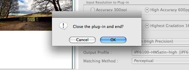 plug in close dialogue