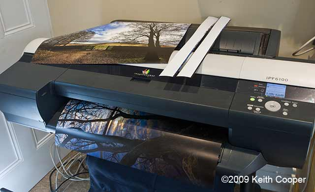 borderless printing with trimmed paper
