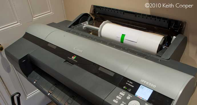 17 inch roll in 24 inch printer