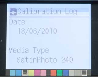 printer calibration log