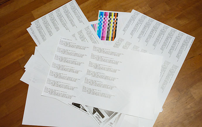 job information print outs