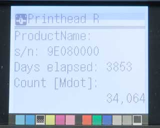 printhead data canon 6300
