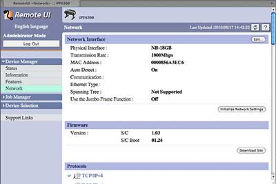 ipf6300 web interface