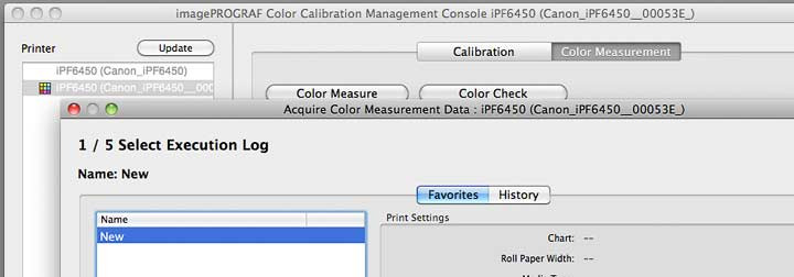 choosing a preset profiling and measurement setup
