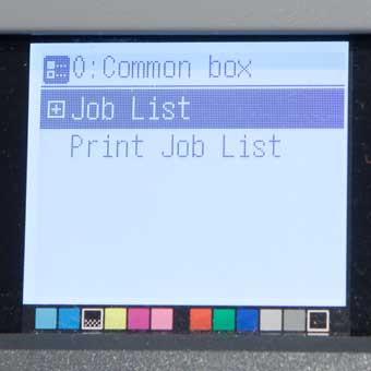 list of jobs on printer