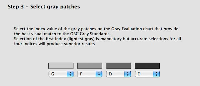 grey patches selected for daylight