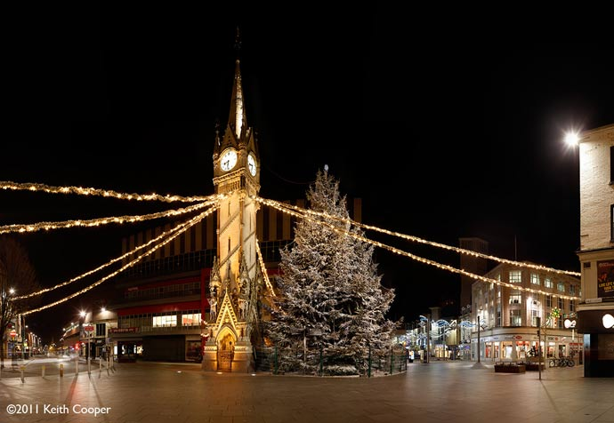Christmas at Leicester clock tower