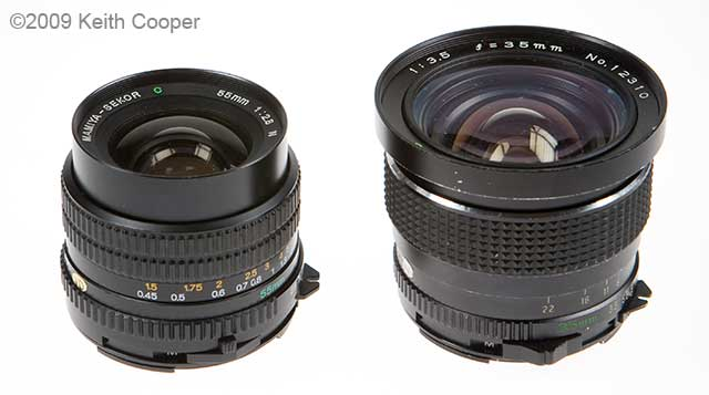 Mamiya Sekor C 35mm and 55mm lenses