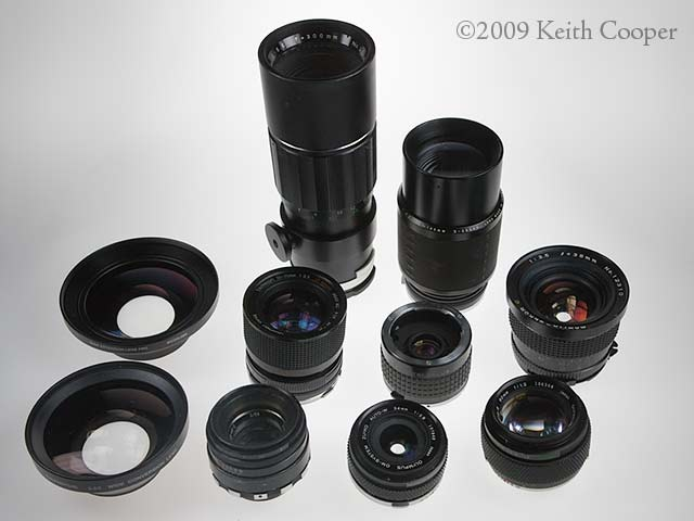 assorted old lenses