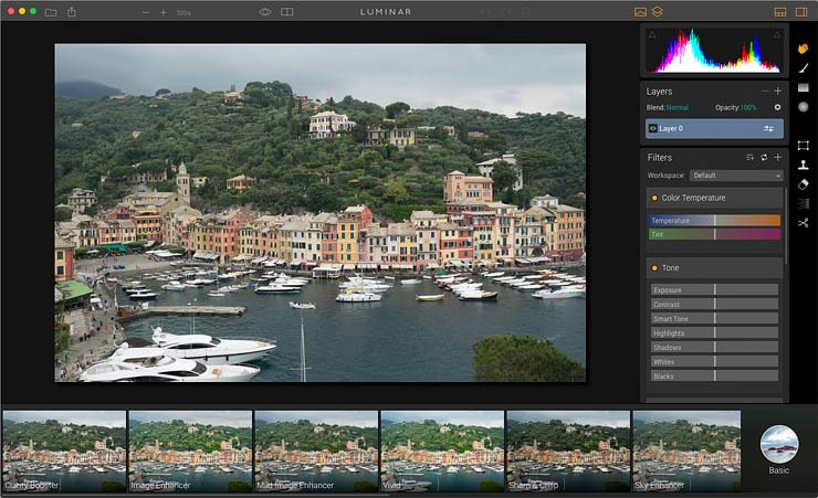 image editing options with luminar