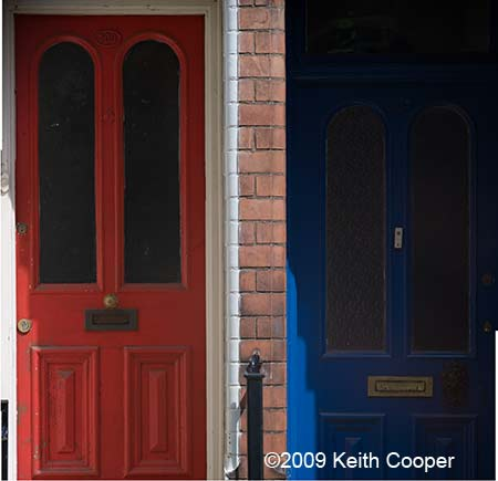 two front doors - taken with 210mm shift lens