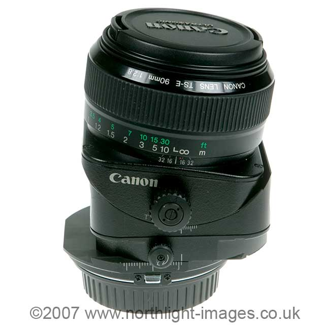 modified Canon tilt shift lens
