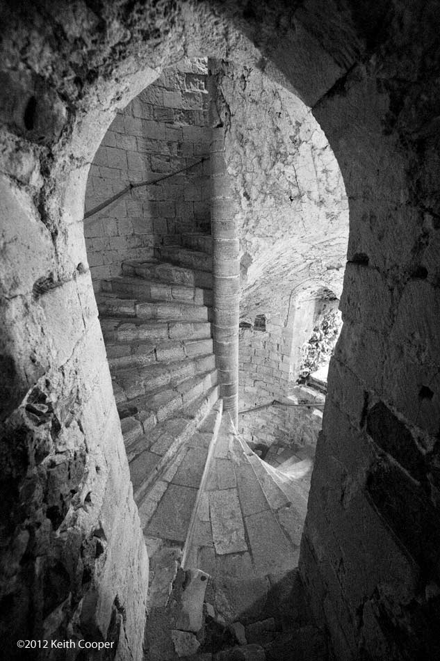 staircase in Orford castle, Suffolk