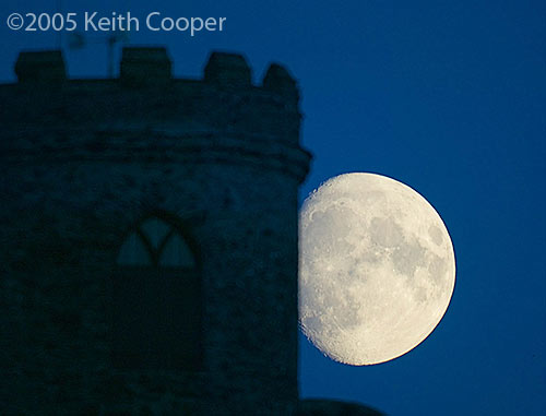 Moon and Old John - Leicester using Nik sharpener pro 2