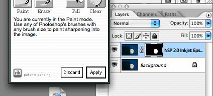 masked sharpening layer