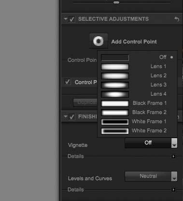 vignetting options