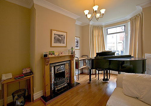 Piano and room