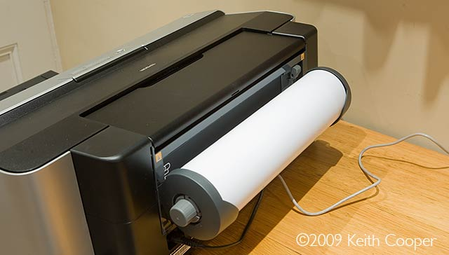 roll paper loaded into Epson 2880