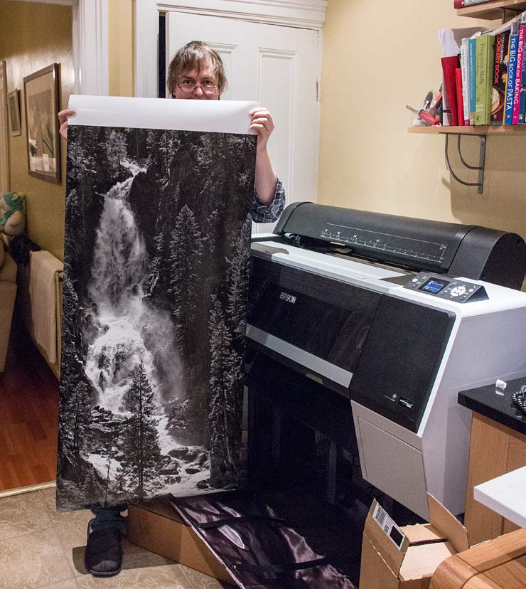 large print with keith cooper for scale