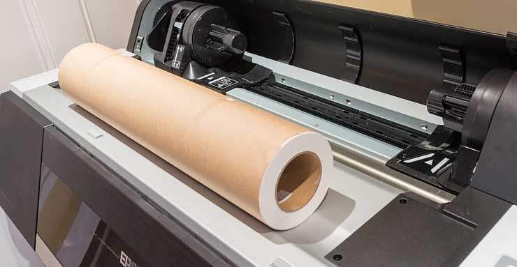roll of paper ready to install