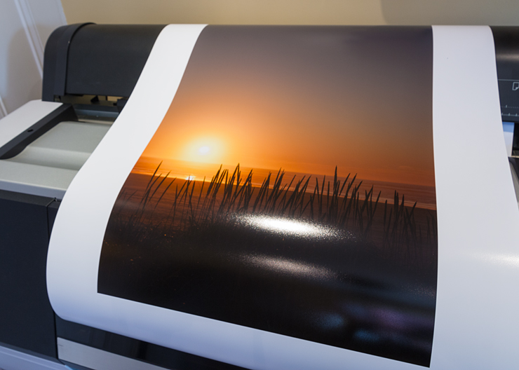 test print of pacific sunset