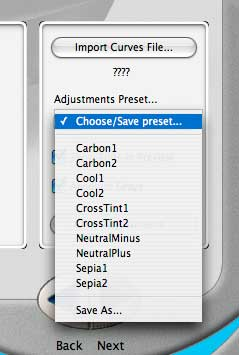 preset adjustment sets