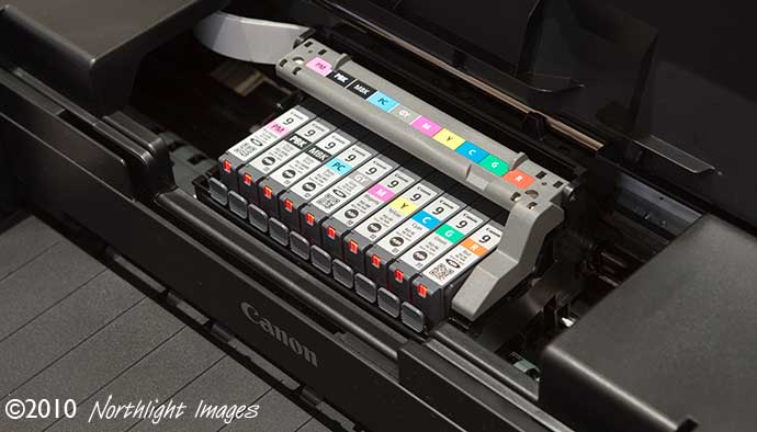 ink cartridge access Canon 9500 mk2