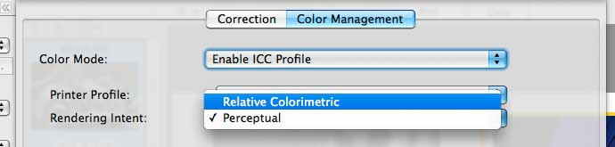 colour management for 9500 II print software