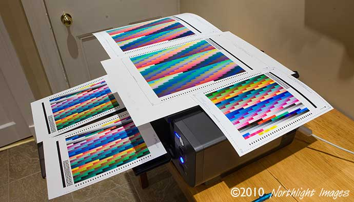 icc printer profile test targets for Canon papers