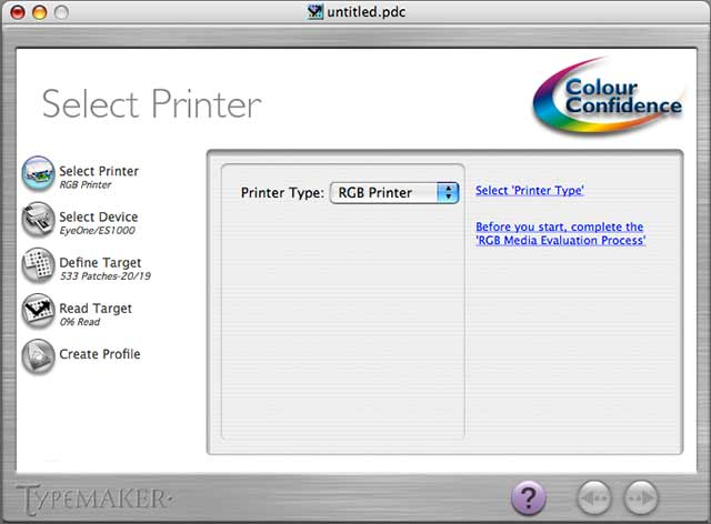 printer selection - updated interface