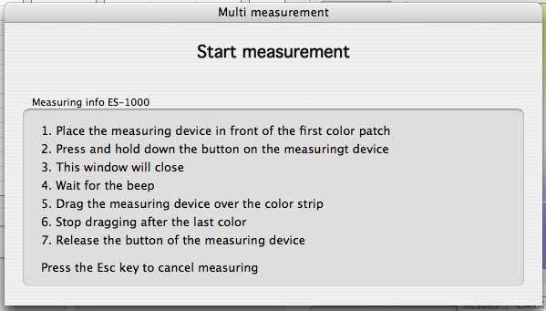 color verifier measurement