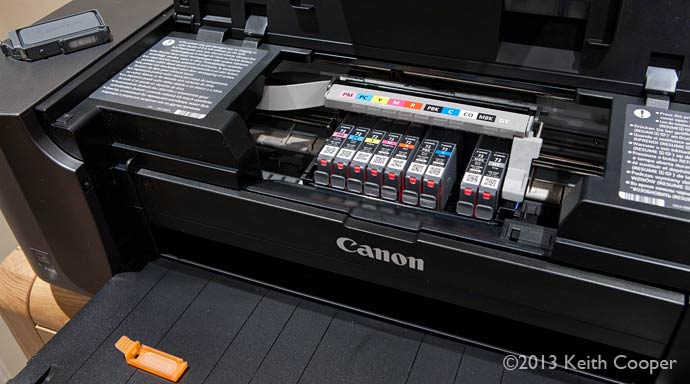 changing canon pro-10 ink tank