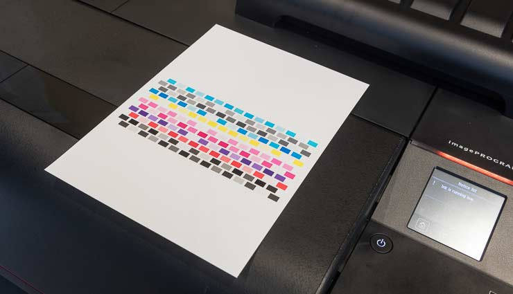 printer calibration target