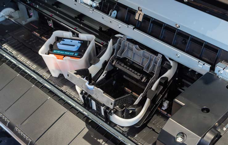 how to clean the platen ipf 8300
