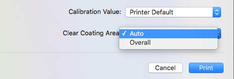 settings for gloss coating usage