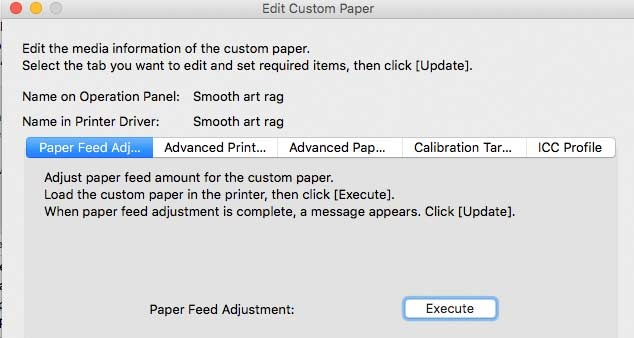 paper feed adjustment