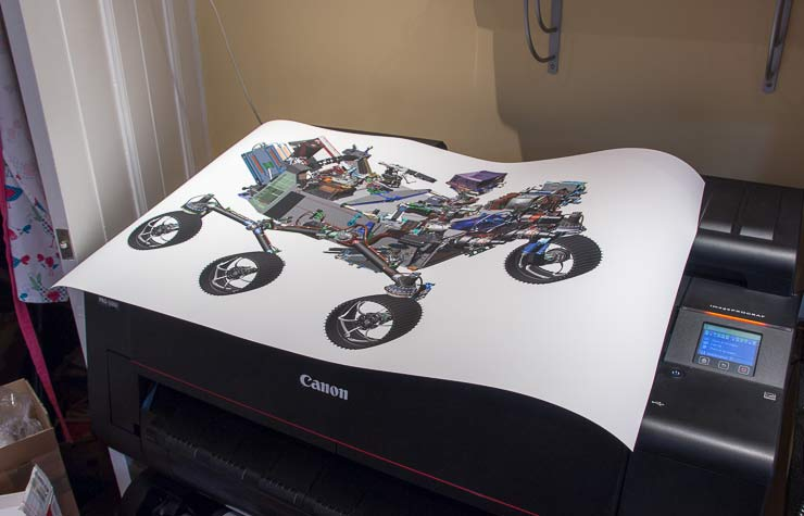 large colour engineering print