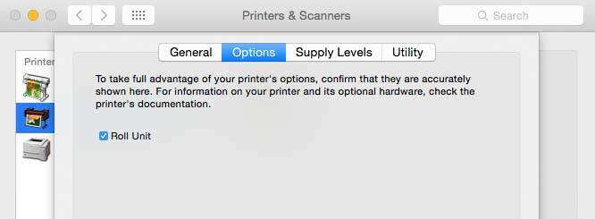 printer driver setup options