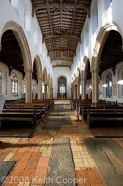 looking west, ceiling, blythburgh church, suffolk