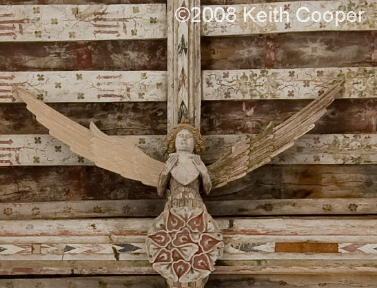Angel on ceiling, blythburgh church, suffolk
