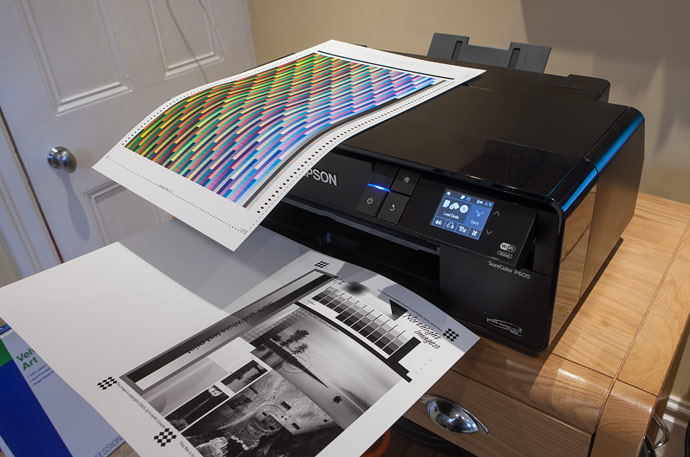 creating test prints and profiling targets with a fine art paper