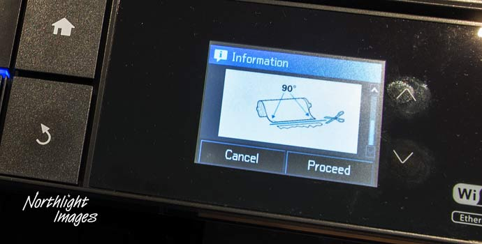 printer information display - roll paper